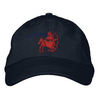 Sagittarius Zodiac Sign Embroidery Nov 22 - Dec 21 Embroidered Hat