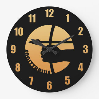 Sagittarius Zodiac Sign Large Clock