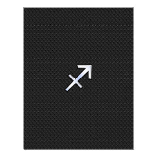 Sagittarius Zodiac Sign on Black Snake Skin Decor Letterhead