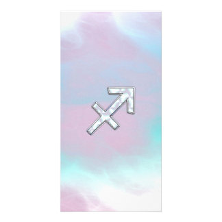 Sagittarius Zodiac Sign on Mother of Pearl Style Card