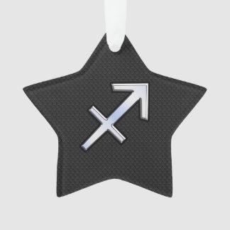 Sagittarius Zodiac Sign on Snake Skin Style Ornament