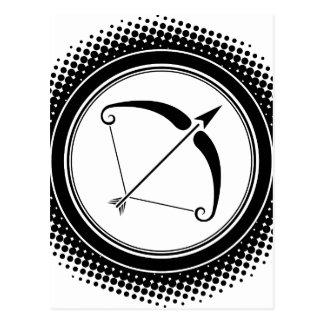 Sagittarius Zodiac Sign. Postcard