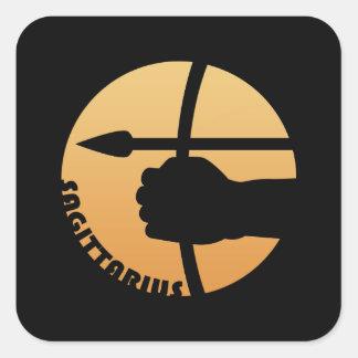 Sagittarius Zodiac Sign Square Sticker