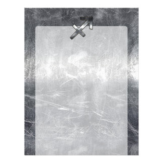 Sagittarius Zodiac Silver Distressed Steel look Letterhead