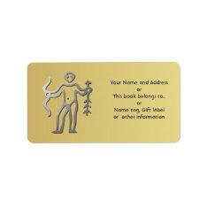 Sagittarius Zodiac Silver Gold Name Tag Gift Tag at Zazzle