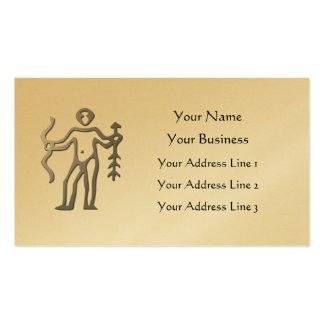 Sagittarius Zodiac Star Sign Light Silver Gold Business Card