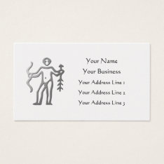 Sagittarius Zodiac Star Sign Light Silver Pearl Business Card at Zazzle