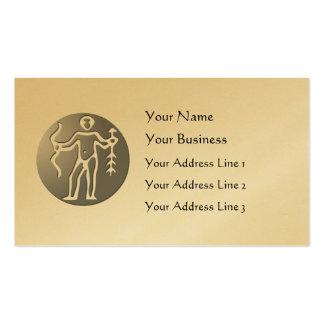 Sagittarius Zodiac Star Sign Premium Silver Business Card