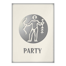 Sagittarius Zodiac Star Sign Premium Silver Card at Zazzle