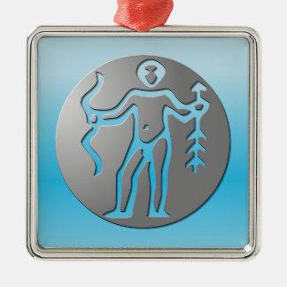 Sagittarius Zodiac Star Sign Premium Silver Ornament