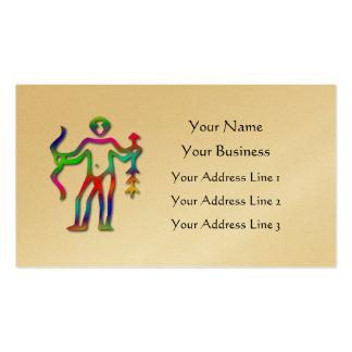 Sagittarius Zodiac Star Sign Rainbow Gold Business Card