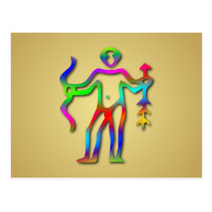 Sagittarius Zodiac Star Sign Rainbow Postcard at Zazzle