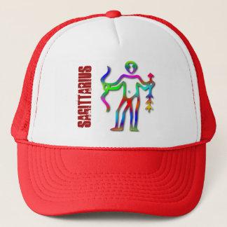 Sagittarius Zodiac Star Sign Rainbow Trucker Hat