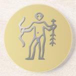 Sagittarius Zodiac Star Sign Silver Drinks Beverage Coasters
