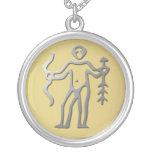Sagittarius Zodiac Star Sign Silver Necklace