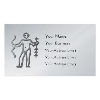 Sagittarius Zodiac Star Sign Silver Platinum Business Card