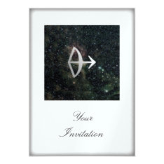 Sagittarius Zodiac Star Sign Universe Party Event Card at Zazzle