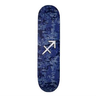Sagittarius Zodiac Symbol NavyDigital Camouflage Skateboard