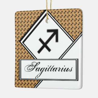 Sagittarius Zodiac Symbol Standard Ceramic Ornament