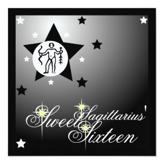 Sagittarius' Zodiacal Fortune Sweet Sixteen-Cust. Card