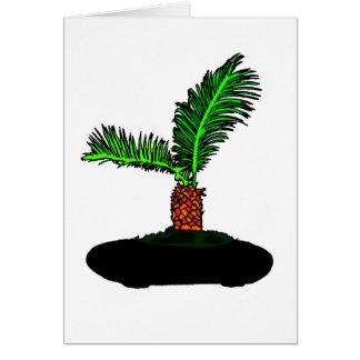 Sago Palm Bonsai Type Graphic Image tree Card