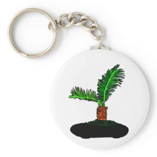 Sago Palm Bonsai Type Graphic Image tree keychain