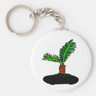 Sago Palm Bonsai Type Graphic Image tree Basic Round Button Keychain
