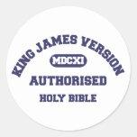 Sagrada Biblia de rey James Version Authorised en Pegatina Redonda