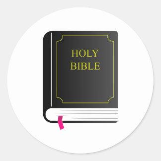 Sagrada Biblia Pegatina Redonda