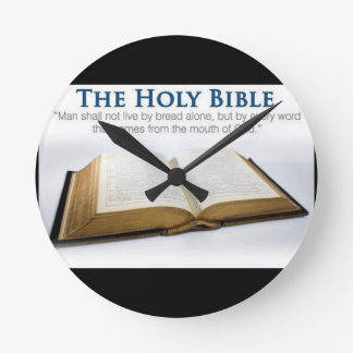 Sagrada Biblia Reloj Redondo Mediano