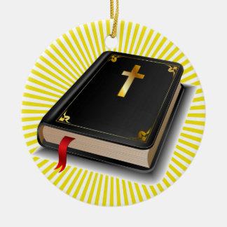 Sagrada Biblia - SRF Adorno Navideño Redondo De Cerámica