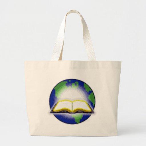 Sagrada Biblia y globo Bolsa De Mano