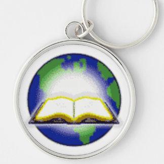 Sagrada Biblia y globo Llaveros