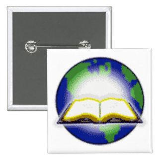 Sagrada Biblia y globo Pins