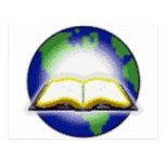 Sagrada Biblia y globo Tarjetas Postales