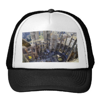 Sagrada familia aerial Barcelona Spain Hat