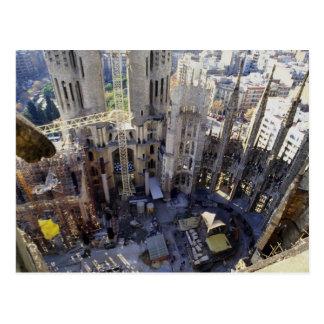 Sagrada familia, aerial, Barcelona, Spain Postcard