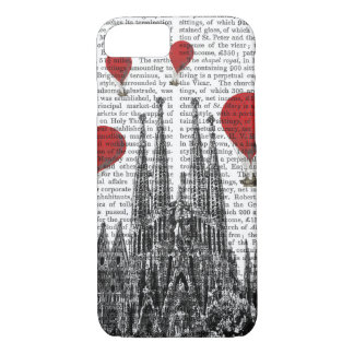 Sagrada Familia and Red Hot Air Balloons iPhone 8/7 Case