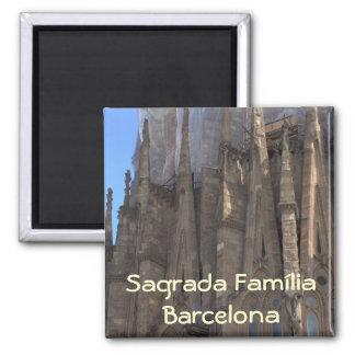 Sagrada Família, Barcelona 2 Inch Square Magnet