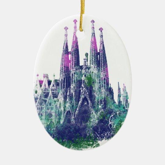 Sagrada Familia Barcelona Ceramic Ornament