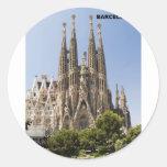 Sagrada Familia Barcelona España Etiqueta Redonda