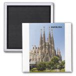 Sagrada Familia Barcelona España Imán Cuadrado