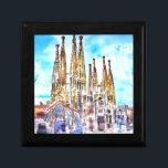 "Sagrada Familia Barcelona Gift Box<br><div class=""desc"">painting of the famous church Sagrada Familia in Barcelona</div>"