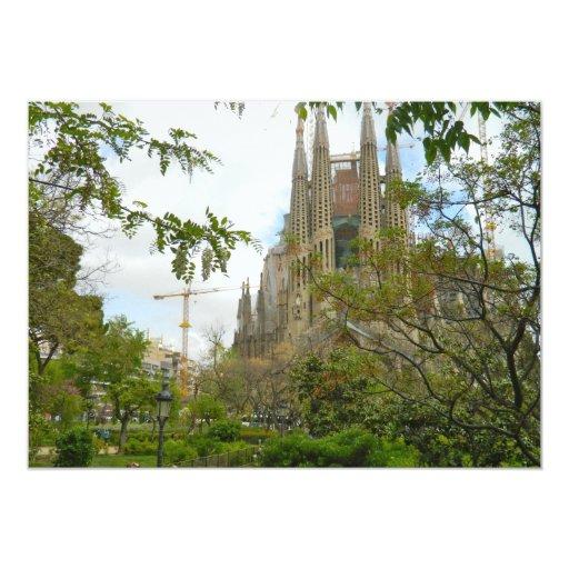 Sagrada Família, Barcelona Invitation
