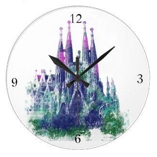 Sagrada Familia Barcelona Large Clock