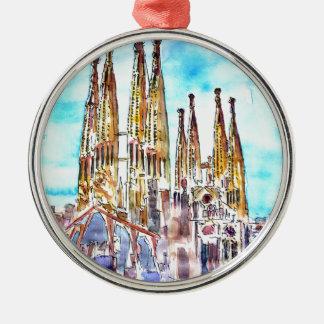 Sagrada Familia Barcelona Metal Ornament