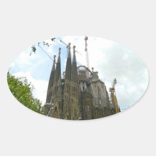 Sagrada Familia, Barcelona Oval Sticker