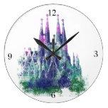 Sagrada Familia Barcelona Reloj Redondo Grande
