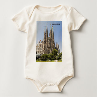 Sagrada Familia Barcelona Spain Baby Bodysuit