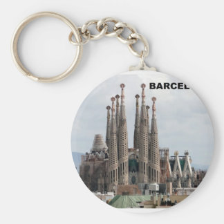 SAGRADA FAMILIA BARCELONA SPAIN (St.K) Basic Round Button Keychain